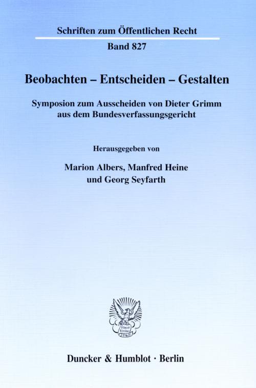 Beobachten - Entscheiden - Gestalten. cover