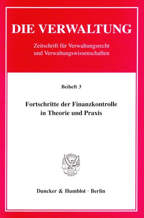 Fortschritte der Finanzkontrolle in Theorie und Praxis. cover