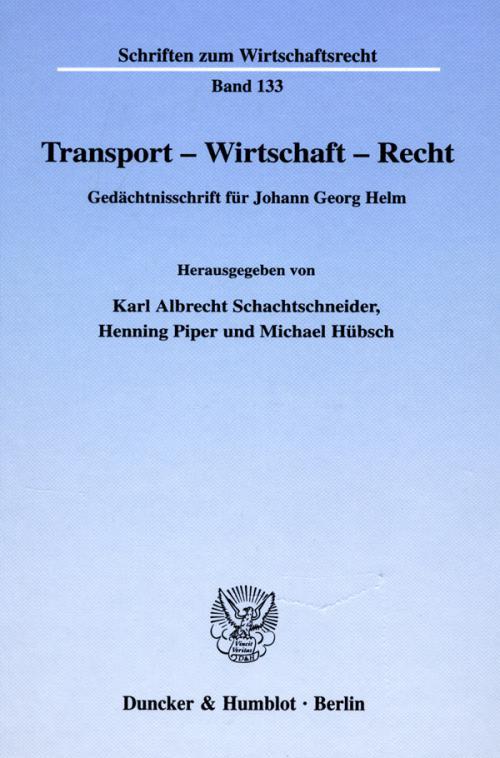 Transport - Wirtschaft - Recht. cover