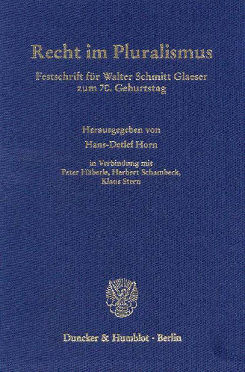 Recht im Pluralismus. cover