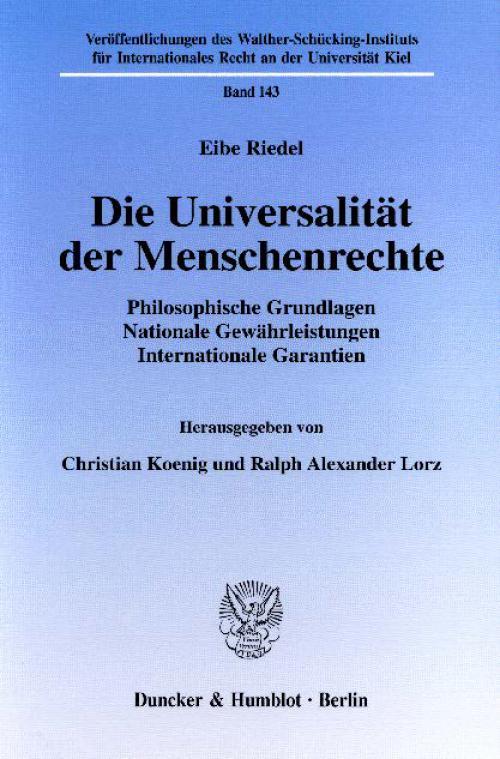 Die Universalität der Menschenrechte. cover