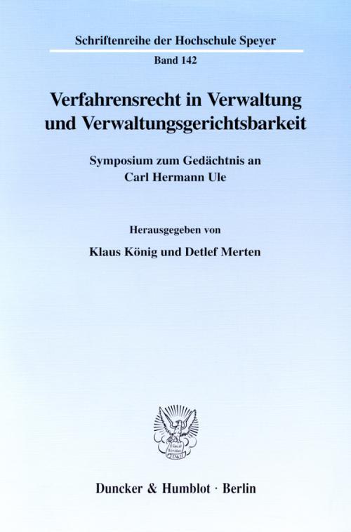 Verfahrensrecht in Verwaltung und Verwaltungsgerichtsbarkeit. cover