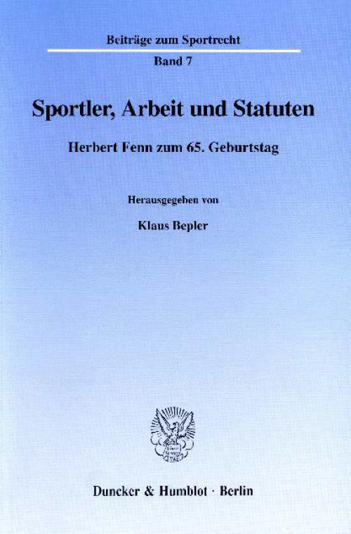 Sportler, Arbeit und Statuten. cover