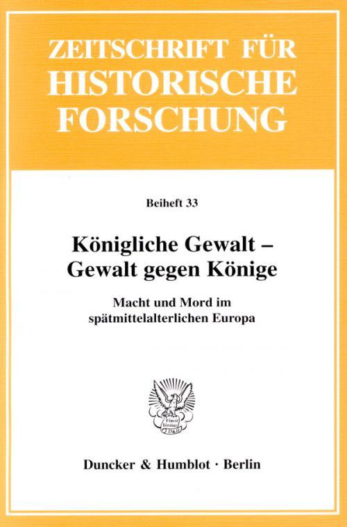 Königliche Gewalt - Gewalt gegen Könige. cover