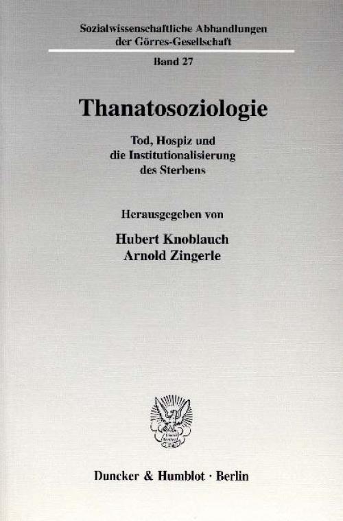 Thanatosoziologie. cover