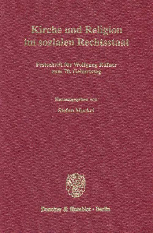 Kirche und Religion im sozialen Rechtsstaat. cover