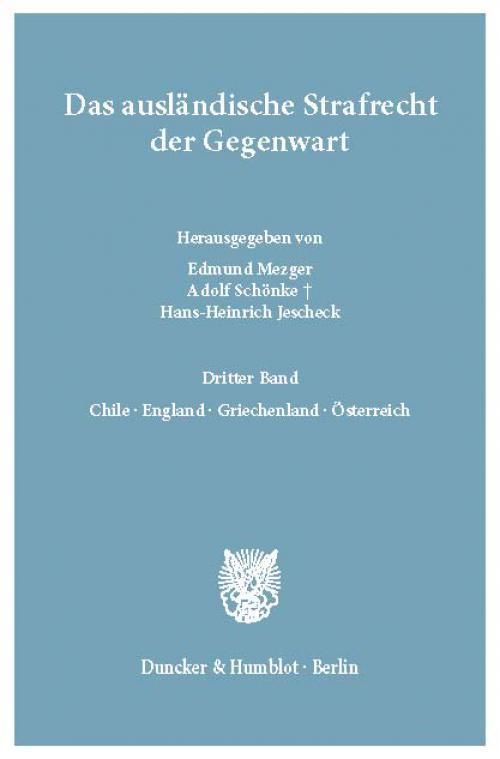Das ausländische Strafrecht der Gegenwart. cover