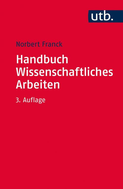 Handbuch Wissenschaftliches Arbeiten cover