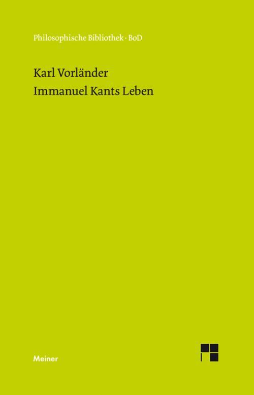 Immanuel Kants Leben cover