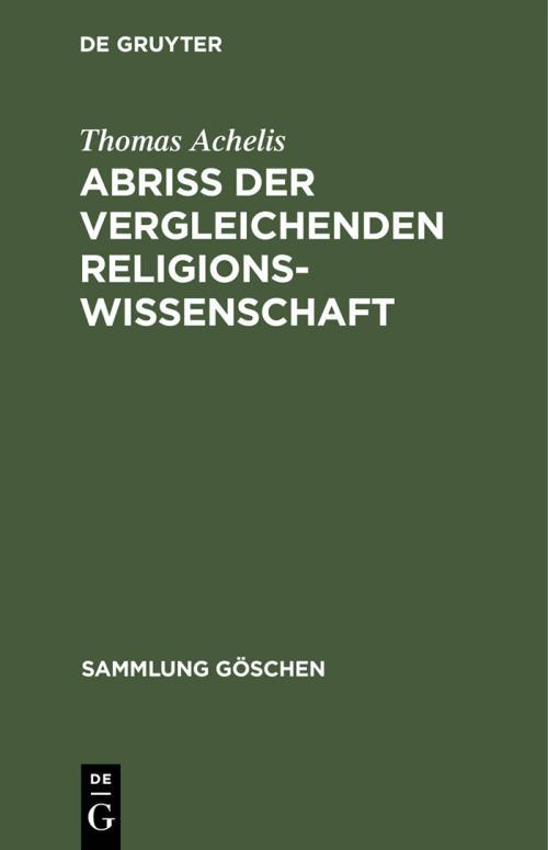 Abriß der vergleichenden Religionswissenschaft cover