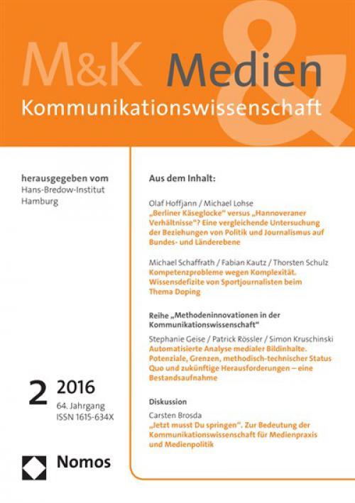 """""""Jetzt musst Du springen"""". Zur Bedeutung der Kommunikationswissenschaft für Medienpraxis und Medienpolitik  cover"""