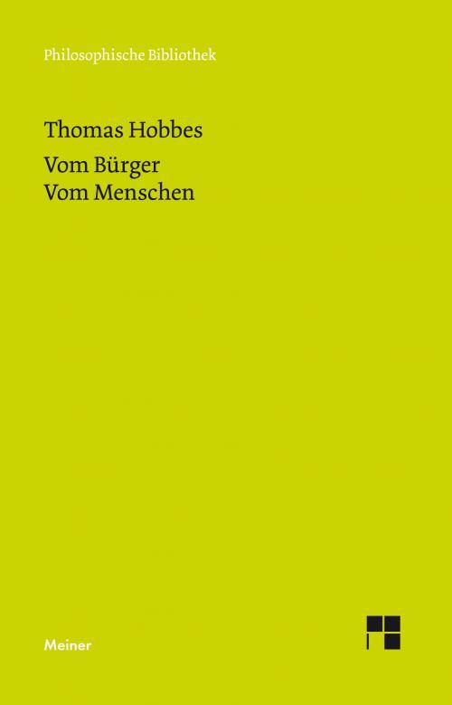 Vom Bürger. Dritter Teil der Elemente der Philosophie cover