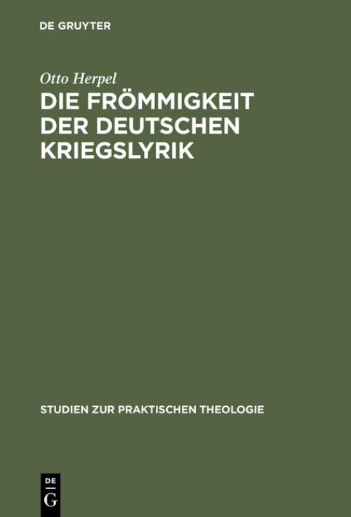 Die Frömmigkeit der deutschen Kriegslyrik cover