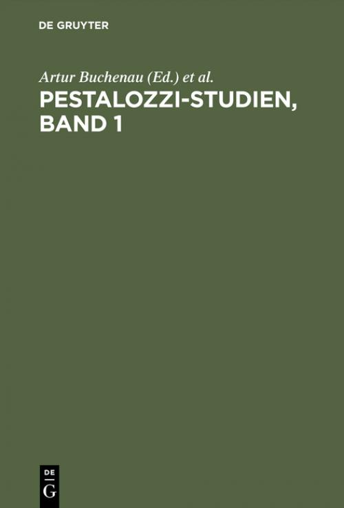 Pestalozzi-Studien, Band 1 cover