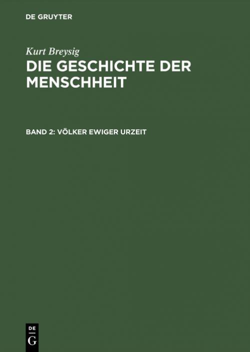 Völker ewiger Urzeit cover