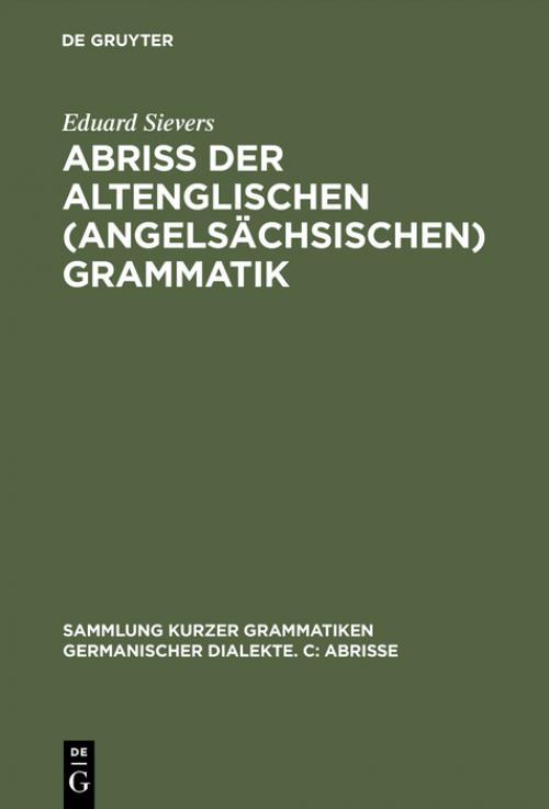 Abriss der altenglischen (angelsächsischen) Grammatik cover