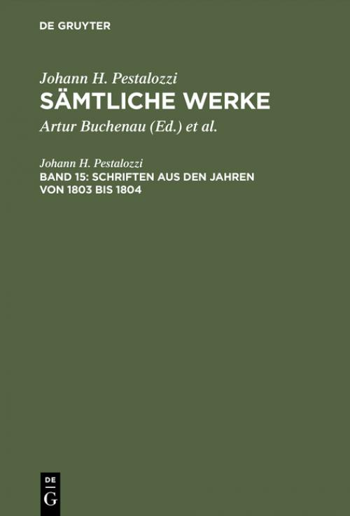 Schriften aus den Jahren von 1803 bis 1804 cover