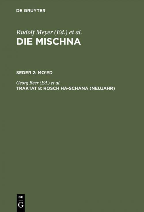 Rosch ha-schana (Neujahr) cover