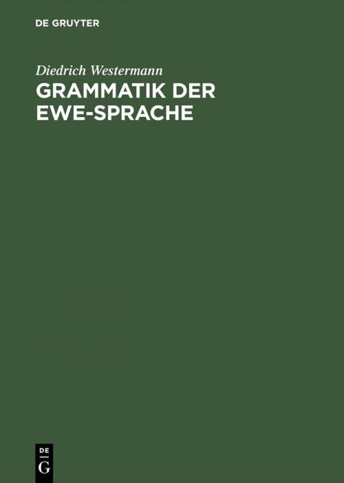 Grammatik der Ewe-Sprache cover