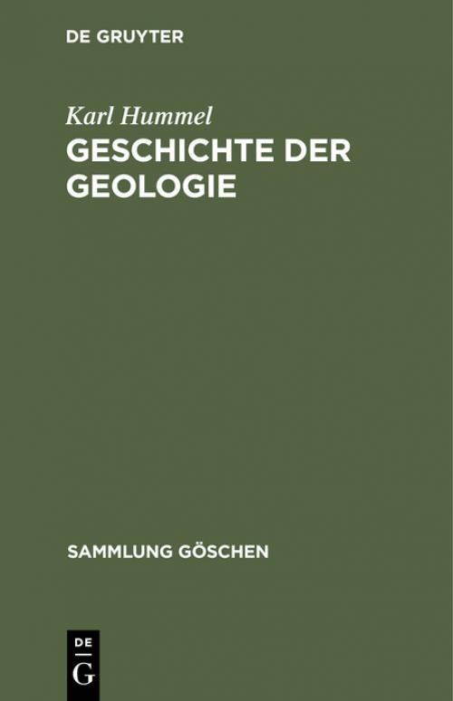 Geschichte der Geologie cover