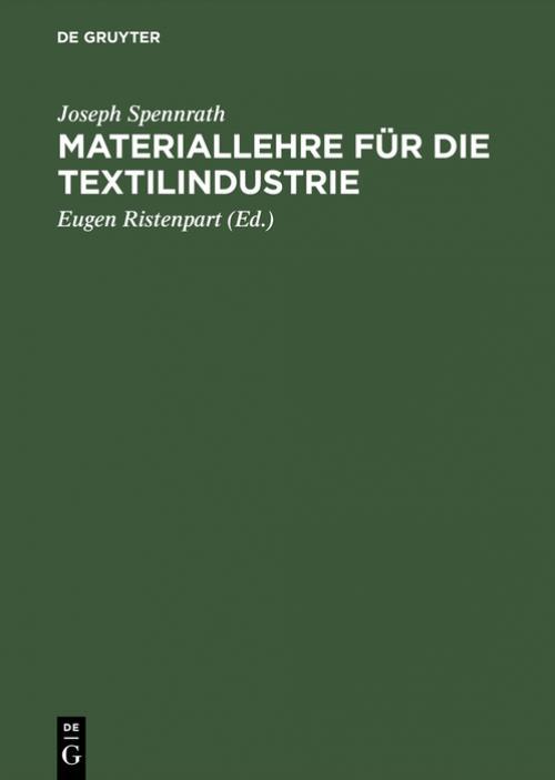 Materiallehre für die Textilindustrie cover
