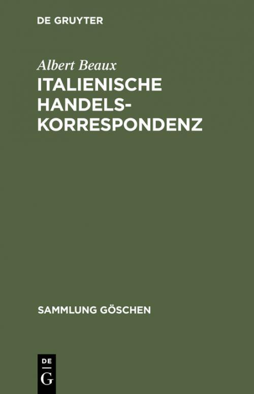 Italienische Handelskorrespondenz cover