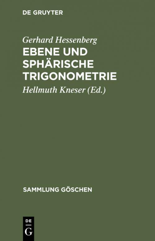 Ebene und sphärische Trigonometrie cover