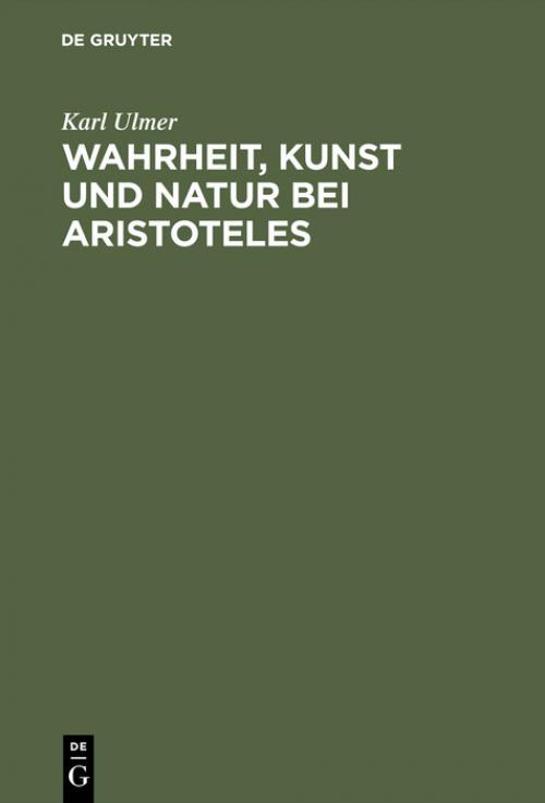 Wahrheit, Kunst und Natur bei Aristoteles cover