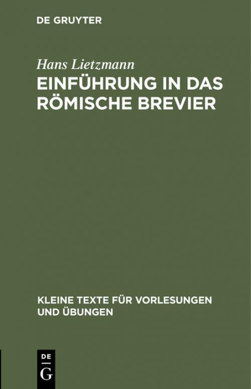 Einführung in das römische Brevier cover