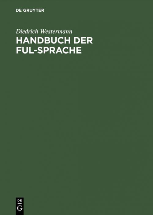 Handbuch der Ful-Sprache cover
