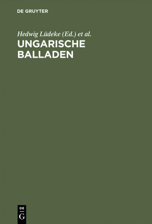 Ungarische Balladen cover