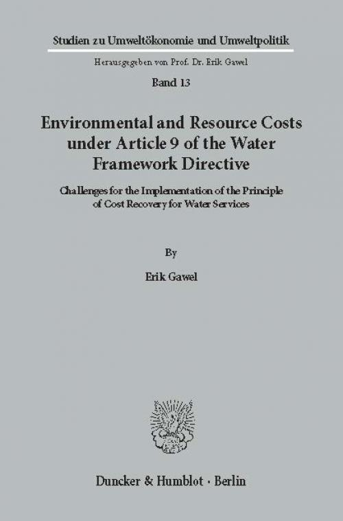 Environmental and Resource Costs under Article 9 of the Water Framework Directive. cover