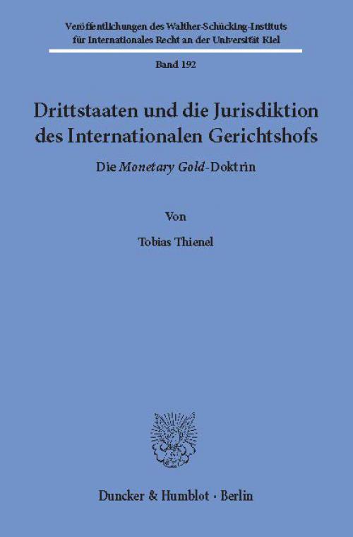 Drittstaaten und die Jurisdiktion des Internationalen Gerichtshofs. cover