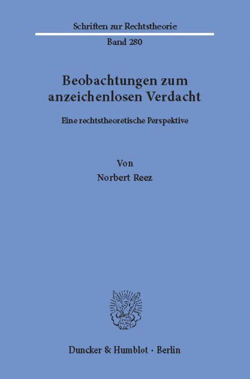 Beobachtungen zum anzeichenlosen Verdacht. cover