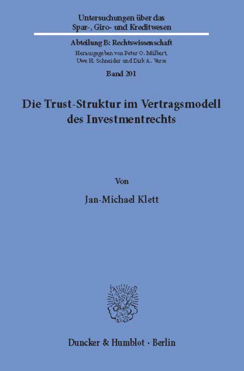 Die Trust-Struktur im Vertragsmodell des Investmentrechts. cover