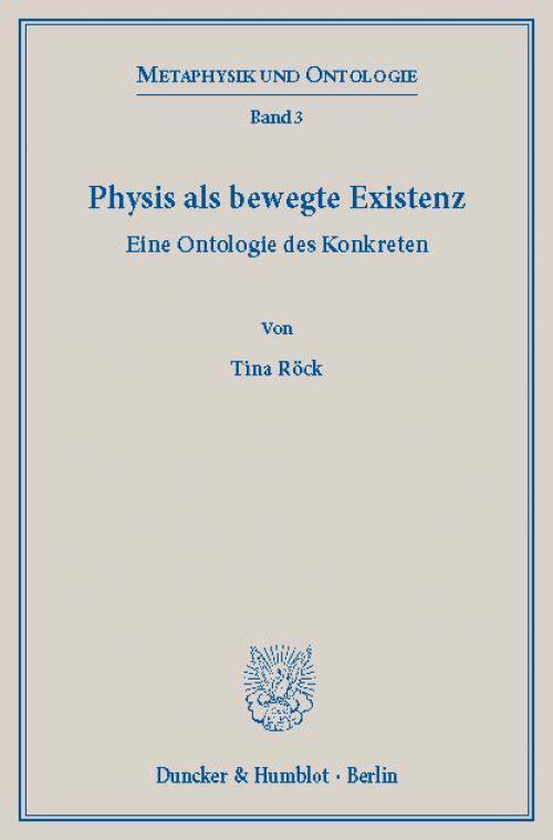 Physis als bewegte Existenz. cover