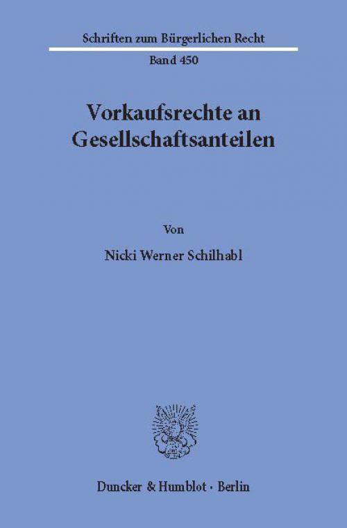 Vorkaufsrechte an Gesellschaftsanteilen. cover