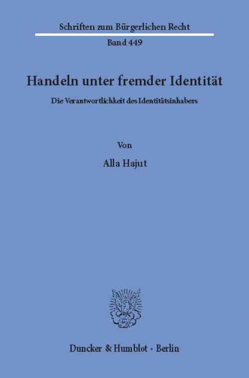 Handeln unter fremder Identität. cover