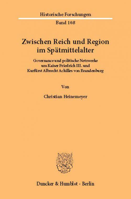Zwischen Reich und Region im Spätmittelalter. cover