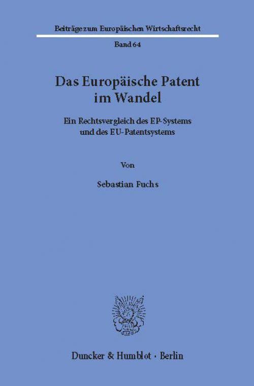 Das Europäische Patent im Wandel. cover