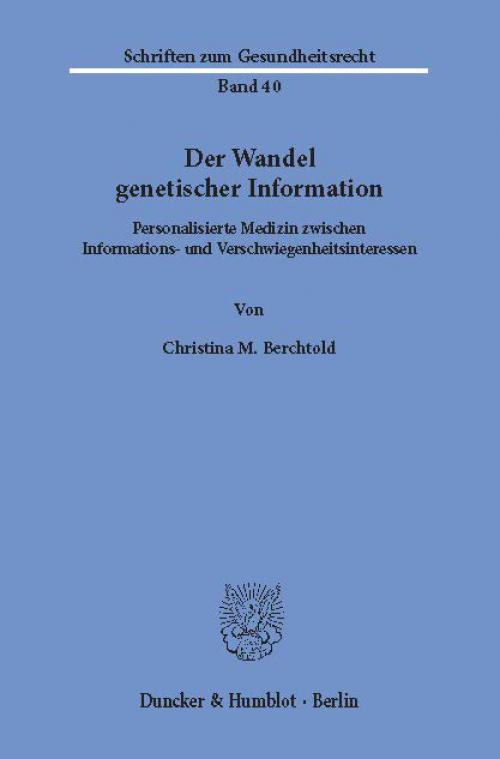 Der Wandel genetischer Information. cover