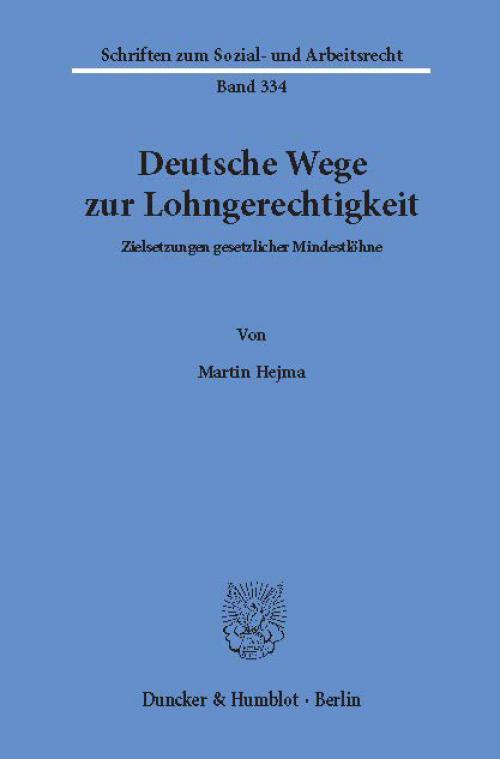 Deutsche Wege zur Lohngerechtigkeit. cover