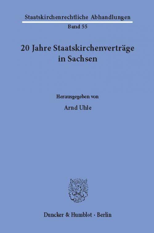20 Jahre Staatskirchenverträge in Sachsen. cover