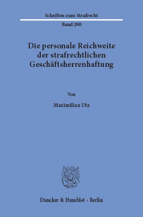 Die personale Reichweite der strafrechtlichen Geschäftsherrenhaftung. cover