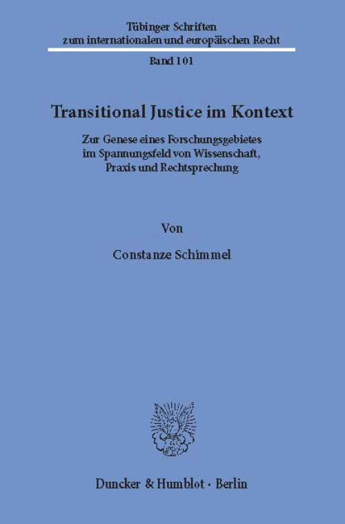 Transitional Justice im Kontext. cover