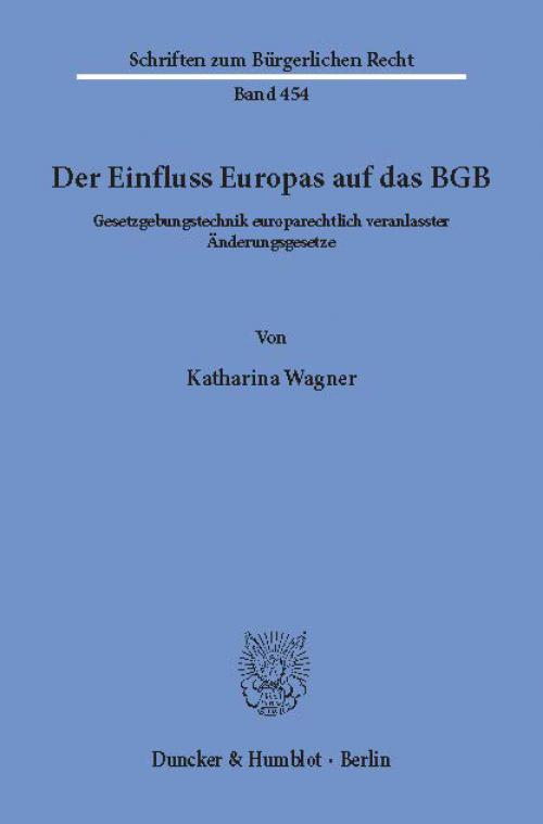 Der Einfluss Europas auf das BGB. cover