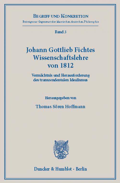Johann Gottlieb Fichtes Wissenschaftslehre von 1812. cover