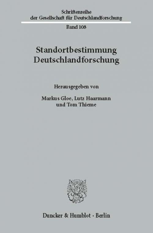 Standortbestimmung Deutschlandforschung. cover