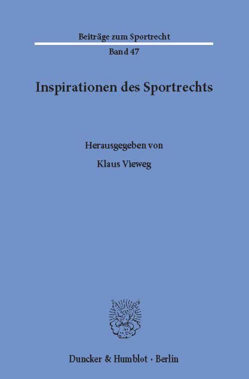 Inspirationen des Sportrechts. cover