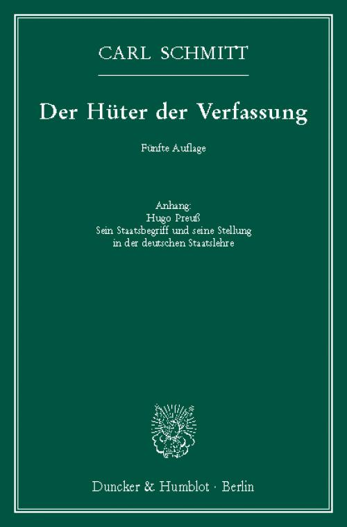 Der Hüter der Verfassung. cover